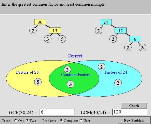 Nlvm Prime Factors Mathematics For Students