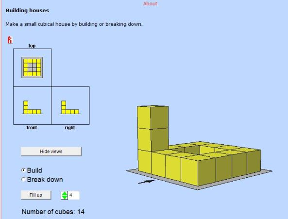 Plan Elevation Of A Cuboid : Plans and elevations mathematics for students