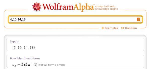 WolframAlpha - sequences