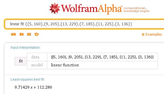 WolframAlphaRegression