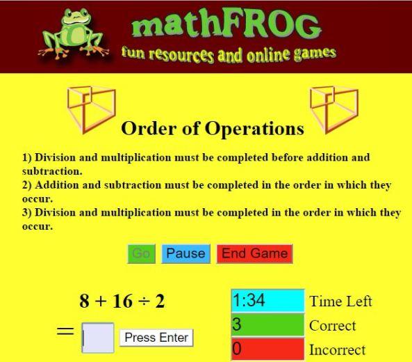Maths Frog