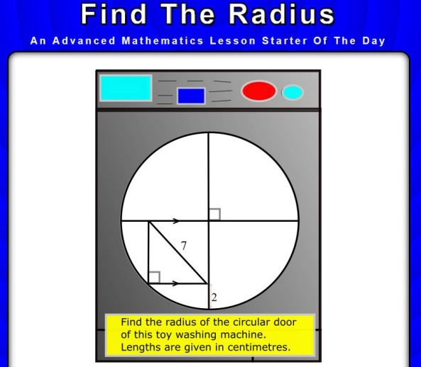 Find the Radius - Transum