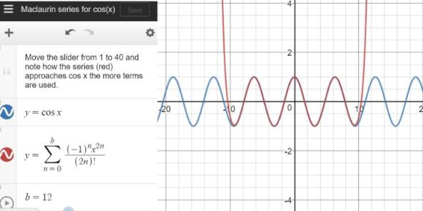 Maclaurin Series cos x