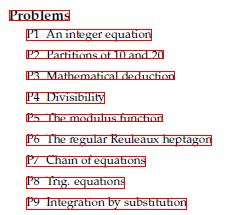 Advanced Problems in Mathematics Problem Index
