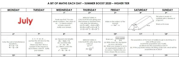 Mr Chadburn Summer Boost Calendars